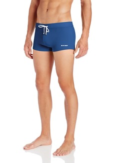 2(X)IST Men's Cabo Solid Square Leg Swim Brief Estate Blue