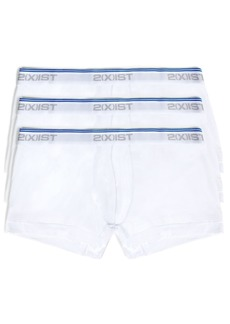 2(x)ist Men's Cotton Stretch 3 Pack No-Show Trunk