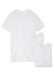 2(x)ist Men's Essential Cotton 3 Pack Crew Neck T-Shirt Underwear -white natural