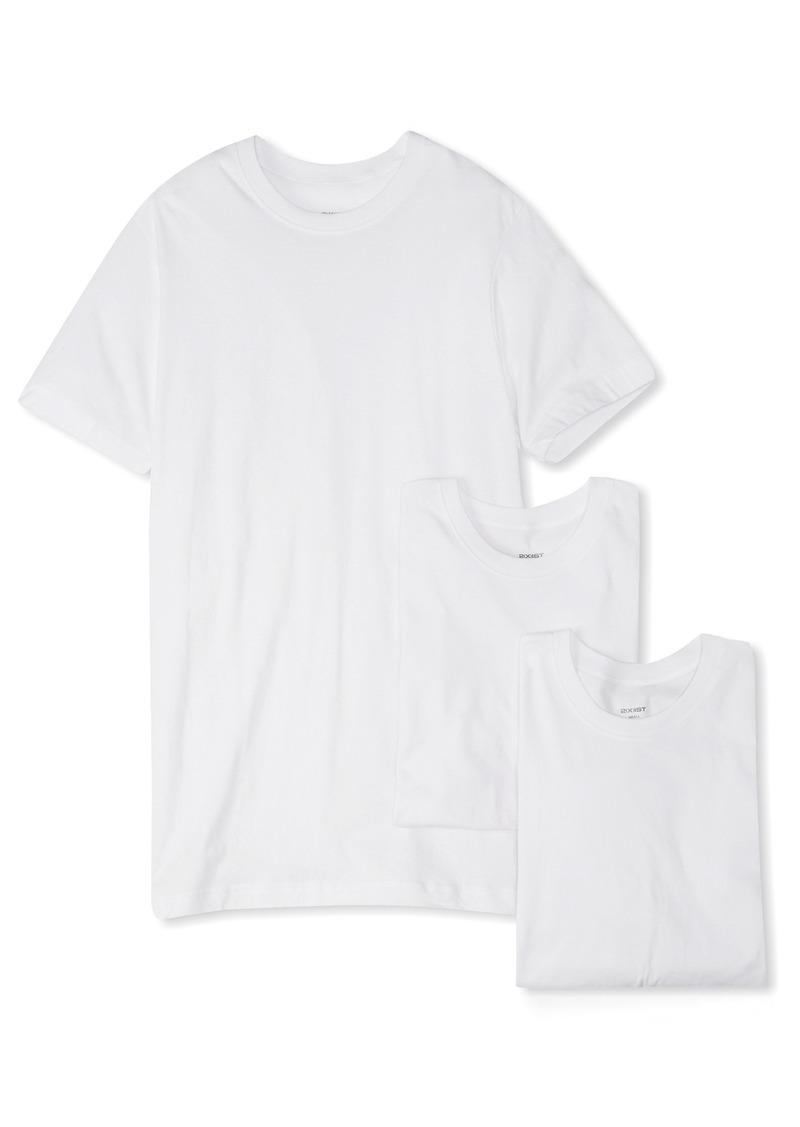 2(x)ist Men's Essential Cotton 3 Pack Crew Neck T-Shirt Underwear -white natural
