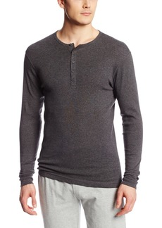 2(X)IST Men's Essential Cotton Long Sleeve Henley