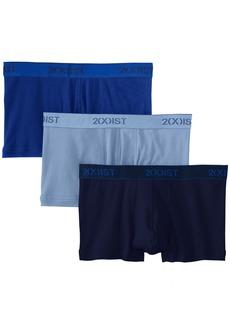 2(X)IST mens Essential Cotton No Show Trunk 3-pack Underwear   US