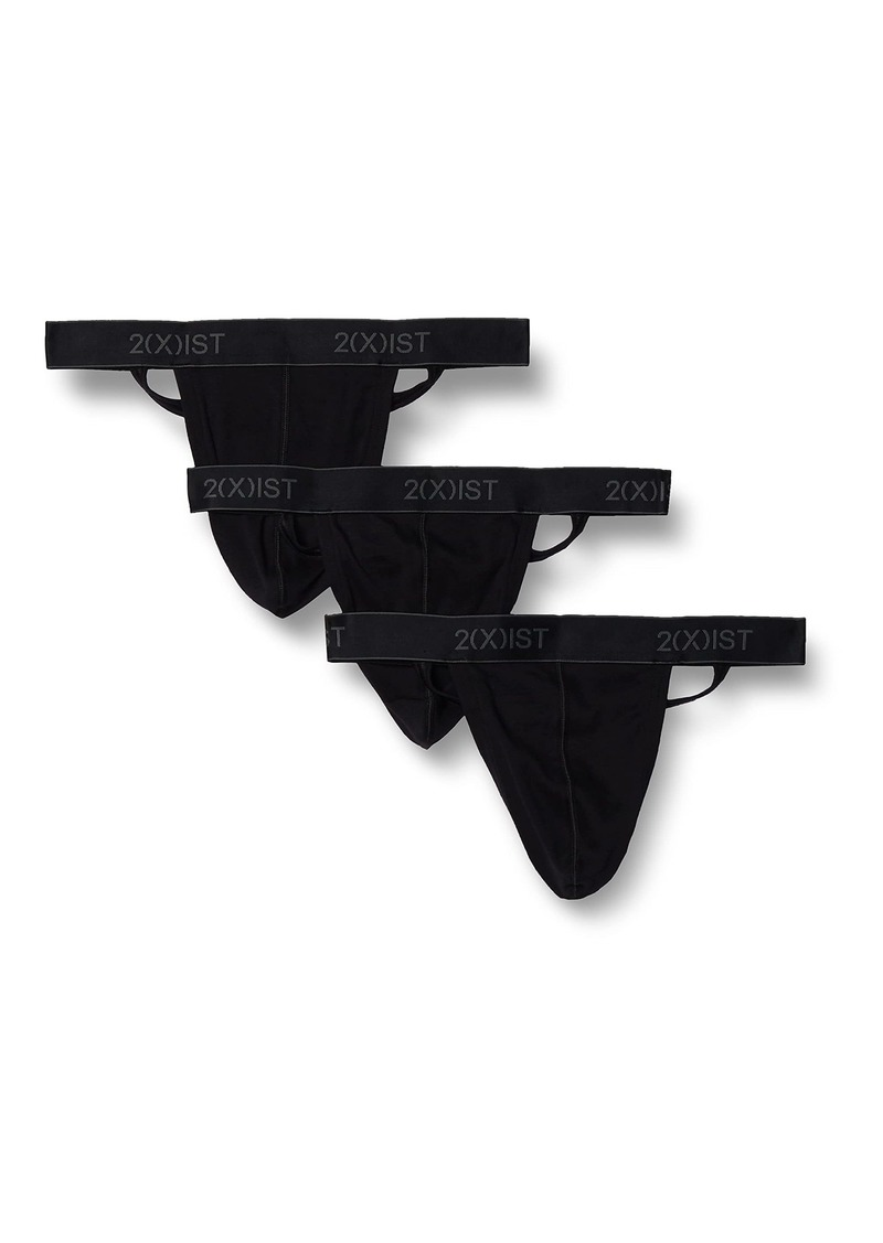 2(X)IST Men's Essential Cotton Y-Back Thong 3-Pack