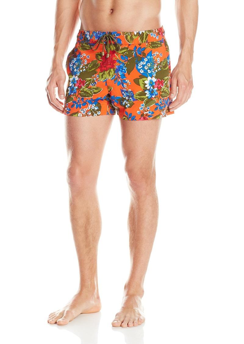 fb8324f491 2(x)ist 2(x)ist Men's Ibiza Gold Tropical Floral Swim Short Now $107.64