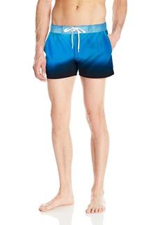 2(X)IST Men's Ibiza Pattern Swim Trunk Ombre/Light Blue  Blue Black