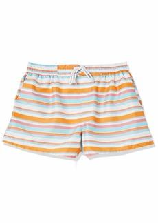 2(X)IST Men's Ibiza Swim Trunk Swimwear Multi Stripe-Zinnia