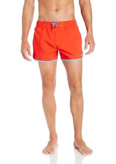 2(x)ist Men's Jogger Swim Trunk Fiery Red/Azure Blue
