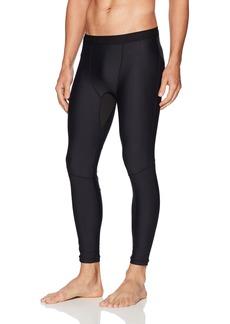 2(X)IST Men's Performance Legging Tight Black with Atom Embossing