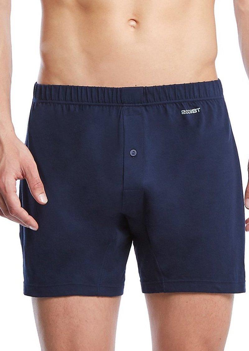 2(X)IST Men's Pima Cotton Knit Boxer