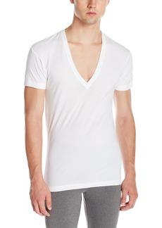 2(X)IST Men's Pima Cotton Slim Fit Deep V-Neck T-Shirt
