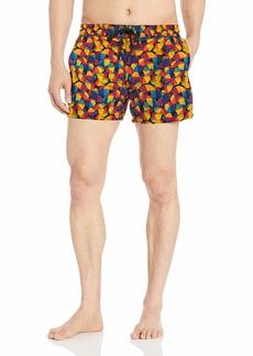 2(x)ist Men's Pride Ibiza Swim Short beach umbrella/rainbow