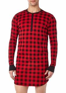 2(X)IST Men's Printed Cotton Long Sleep Shirt Sleepwear  Large/X-Large