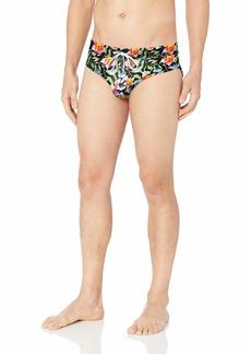 2(X)IST Men's Rio Swim Brief Swimwear Floral neon/White