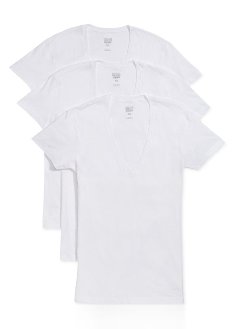 2(x)ist Men's Slim-Fit Deep V-Neck 3 Pack Undershirt