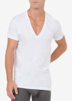 2(x)ist Men's Slim-Fit Deep V-Neck 3 Pack Undershirt