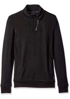 2(X)IST Men's Zippered Shawl Collar Pullover