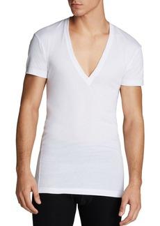 2(X)IST Pima Cotton Slim Fit Deep V-Neck Undershirt