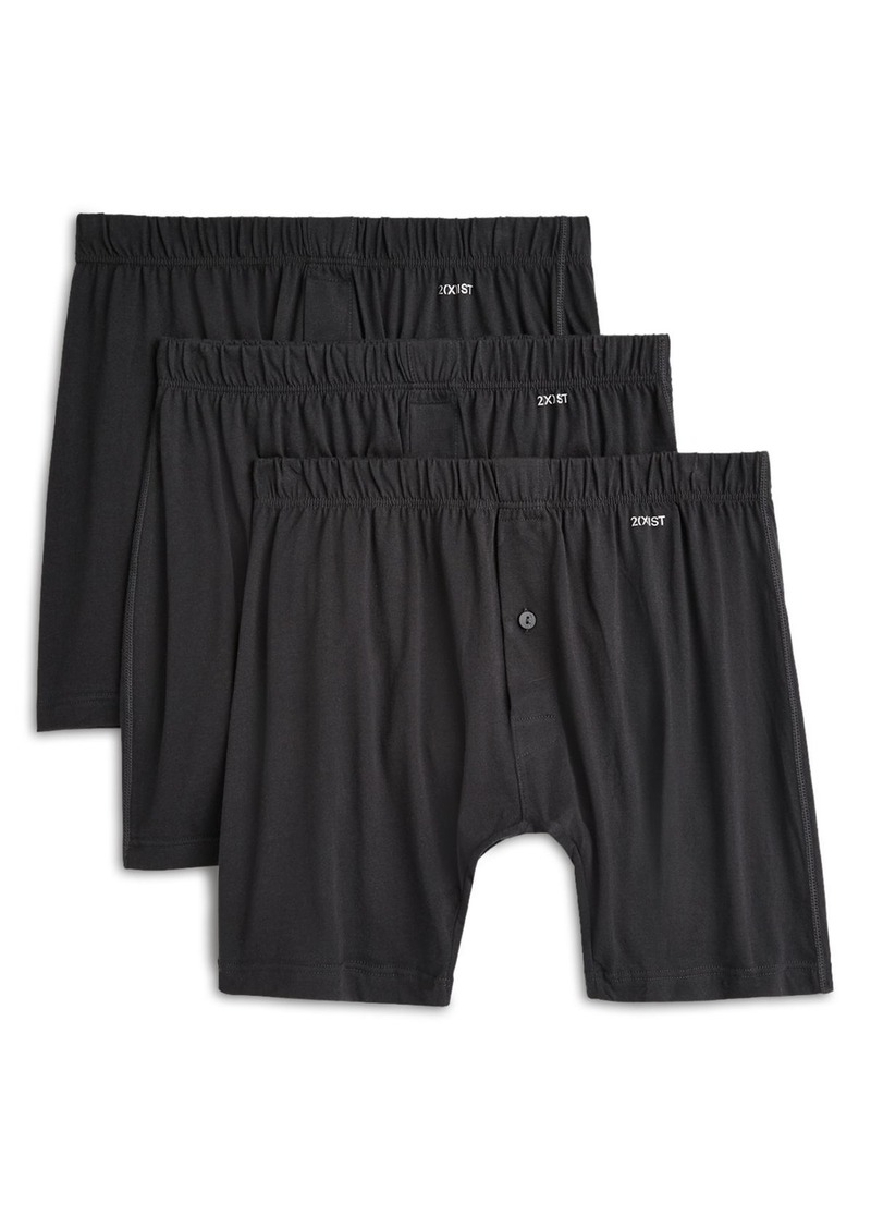 2(X)IST Pima Knit Boxers, Pack of 3