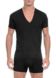 2(x)ist Pima Slim-Fit Deep V-Neck T-Shirt