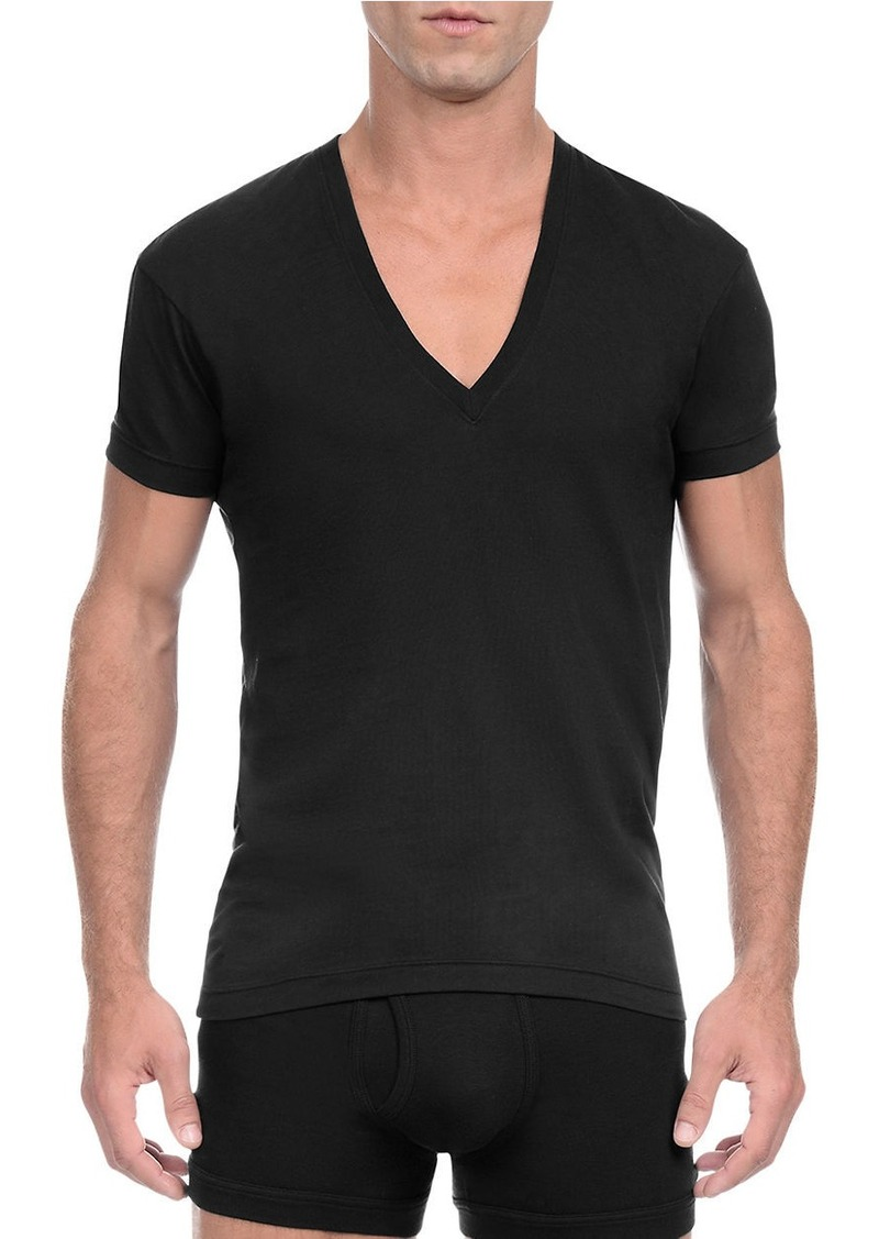 2(x)ist 2XIST Solid Dipped V-Neck Tee