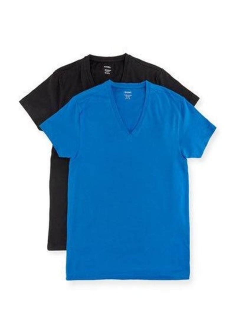 2(x)ist 2Xist Slim-Fit V-Neck Tee Two-Pack Set