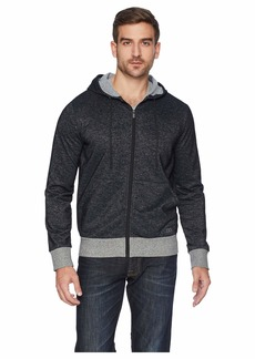 2(x)ist Athleisure - Flecked Sport Asymmetrical Hooded Sweatshirt
