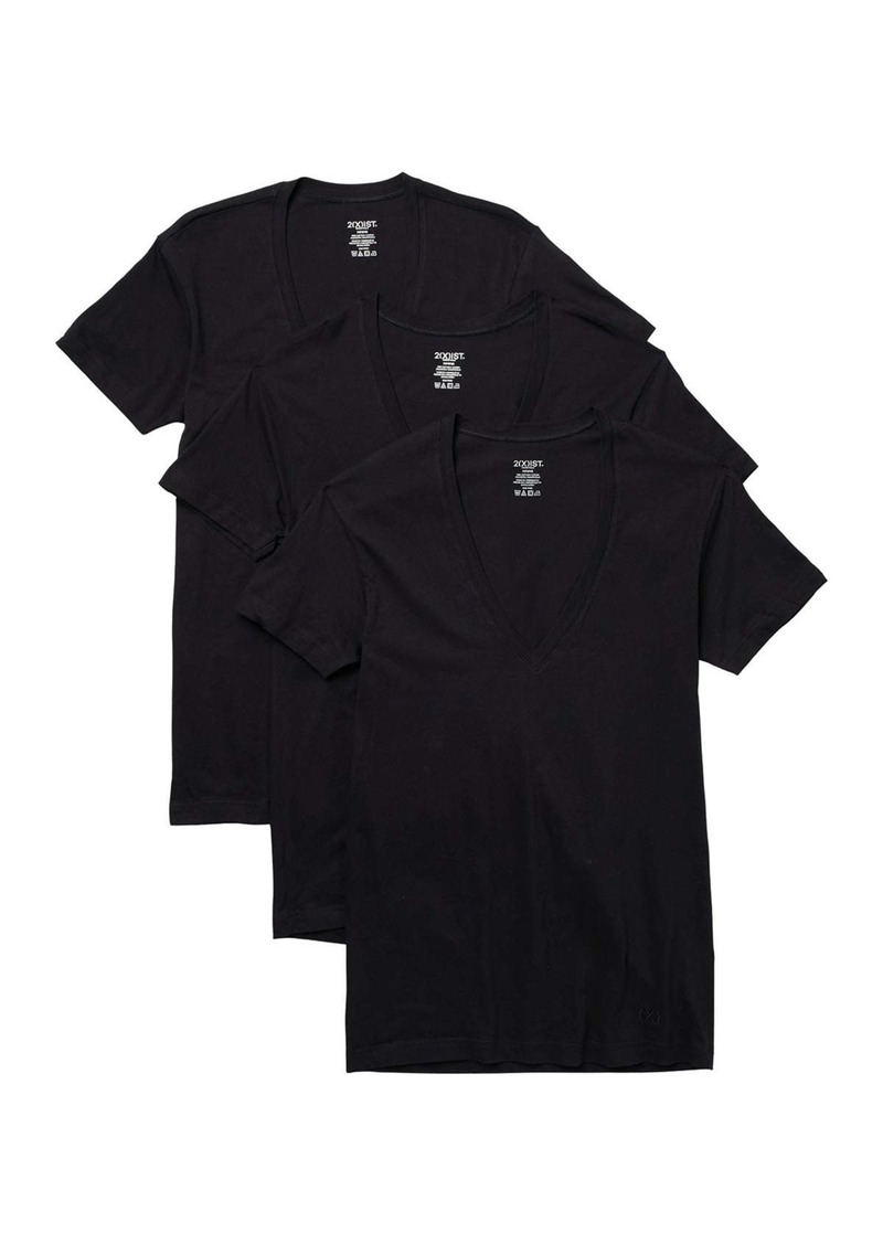 2(x)ist Solid V-Neck Slim Fit T-Shirt - Pack of 3