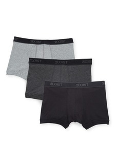 2(x)ist Essential 3-Pack Cotton No-Show Trunks