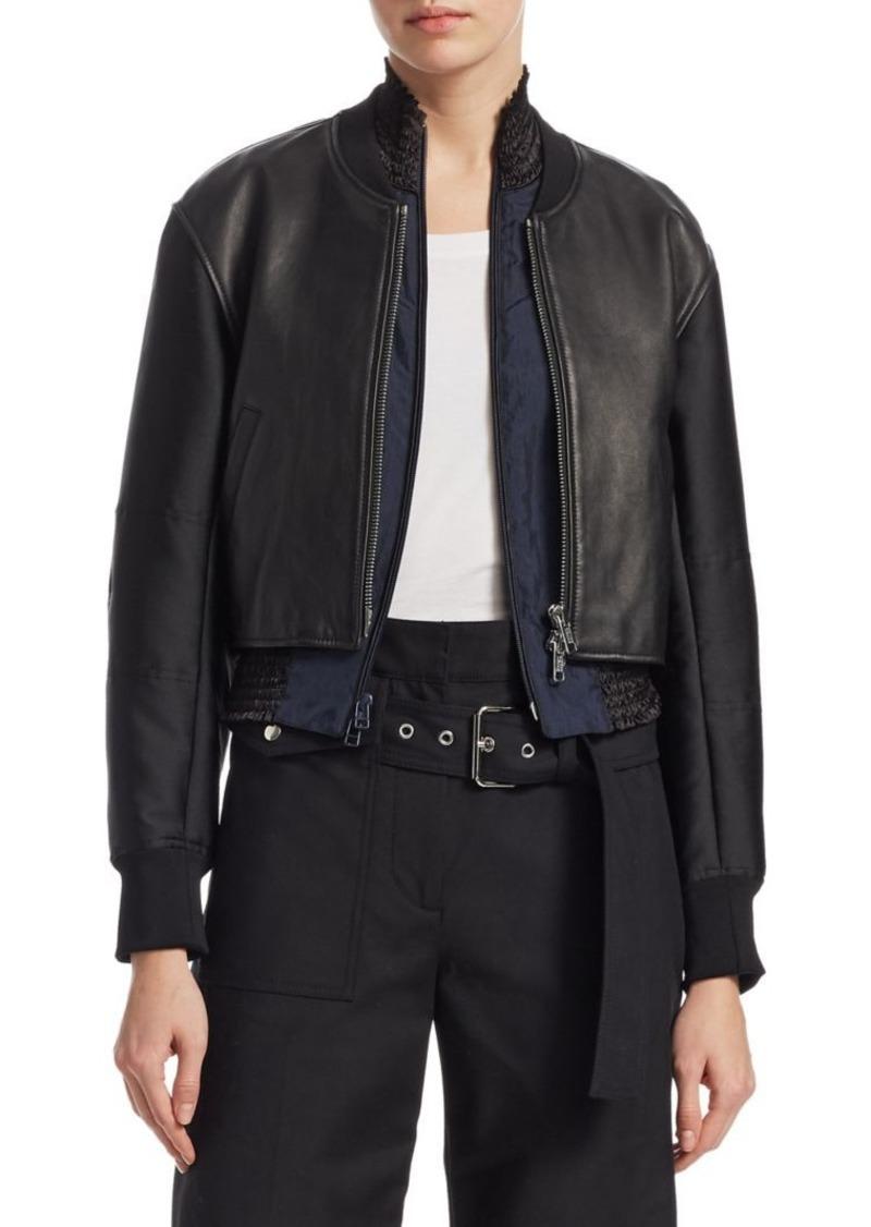 3.1 Phillip Lim 2-in-1 Leather Zip-Front Jacket