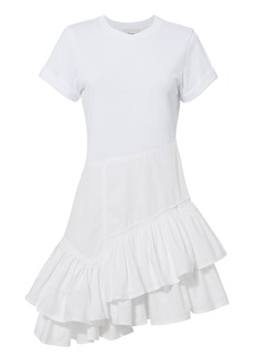 3.1 Phillip Lim Flamenco Ruffle T-Shirt Dress