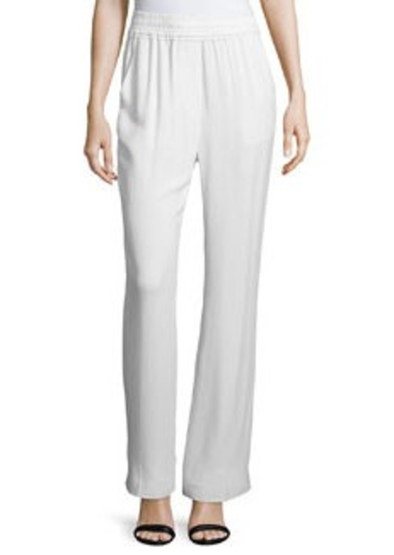 3.1 Phillip Lim Shirred-Waist Straight-Leg Pants