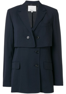 3.1 Phillip Lim asymmetric fitted jacket - Blue