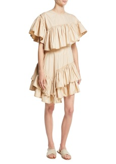 3.1 Phillip Lim Asymmetric Ruffled Cotton Dress