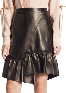 3.1 Phillip Lim Asymmetrical Leather Skirt