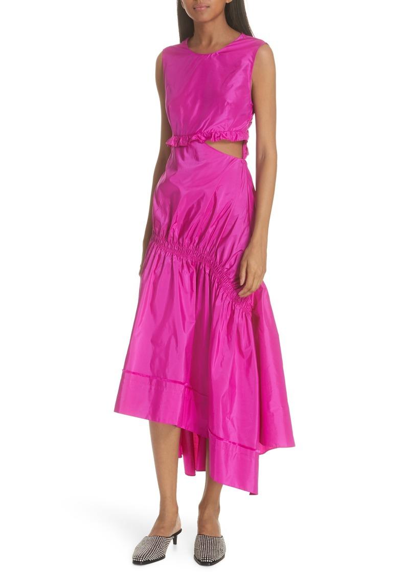 3.1 Phillip Lim Asymmetrical Silk Taffeta Dress