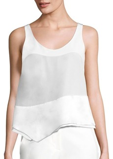 3.1 Phillip Lim Asymmetrical Silk Tank Top