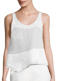 3.1 Phillip Lim Asymmetrical Silk Tank Top