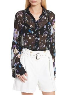 3.1 Phillip Lim Bell Sleeve Silk Blouse
