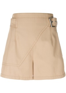 3.1 Phillip Lim belted tailored shorts - Brown