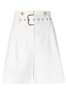 3.1 Phillip Lim belted tailored shorts - White