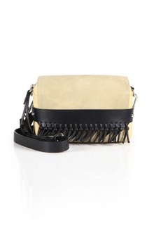 3.1 Phillip Lim Bianca Small Two-Tone Fringed Leather & Suede Crossbody Bag