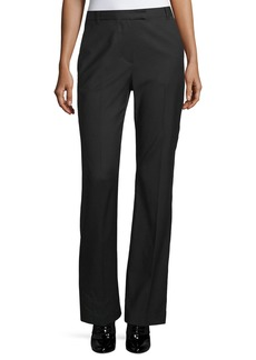 3.1 Phillip Lim Boot-Cut Stove Pipe Trousers  Black