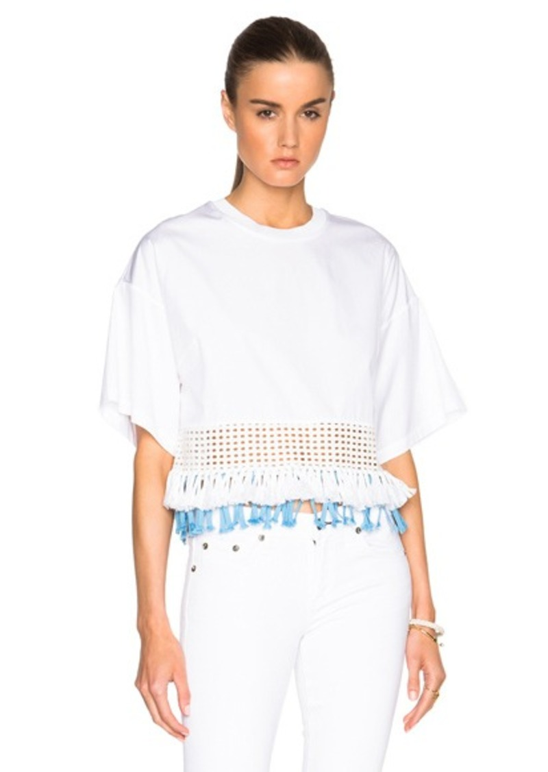 3.1 phillip lim Boxy Fringed Hem Top