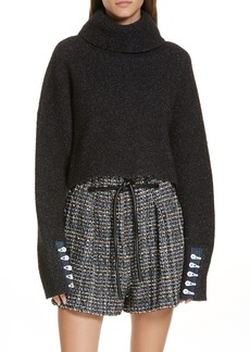 3.1 Phillip Lim Button Cuff Wool Blend Sweater