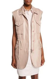 3.1 Phillip Lim Button-Front Drawstring Utility Vest