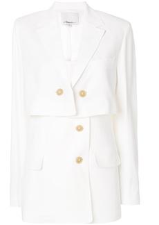 3.1 Phillip Lim button layered blazer - White