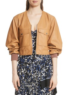 3.1 Phillip Lim Cargo Pocket Leather Bomber Jacket