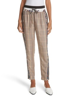 3.1 Phillip Lim Check & Floral Print Drawstring Pants