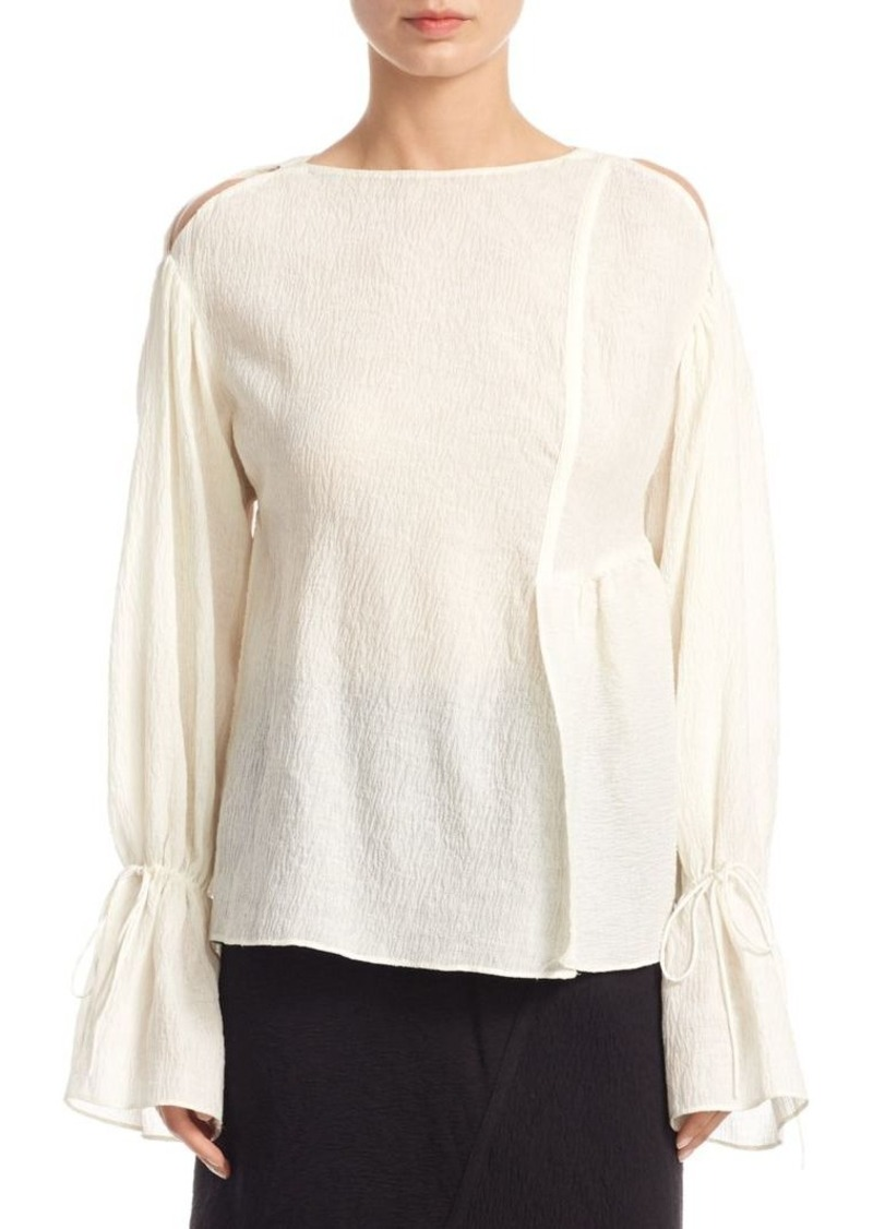 3.1 Phillip Lim Cold-Shoulder Bell-Sleeve Top