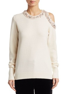 3.1 Phillip Lim Cold-Shoulder Embellished Pullover